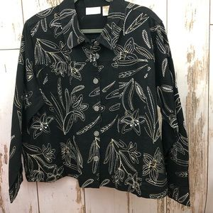 Studio Works Embroidered Jacket, size 3X. New. A15